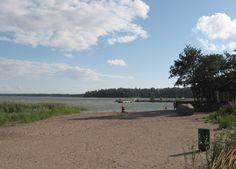 The beach of Klobben (Espoo, Finland).