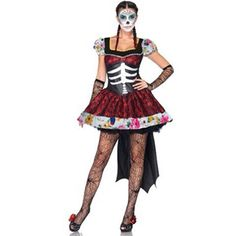 Cheap day dead costume, Buy Quality day day directly from China day of dead Suppliers: Day Of The Dead Mexico Skeleton Costume 2016 Adult Womens Sexy Costume
