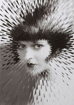 New Exploded Artworks by Lola Dupré - Louise Brooks - scissor cut from multiple prints