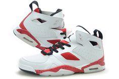 Nike Air Jordan Flight Club 91 White Gym Red Black Mens Shoes 8