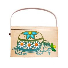"""Enid Collins of Texas """"Poki"""" box bag. Definitely a different feel from the other…"""