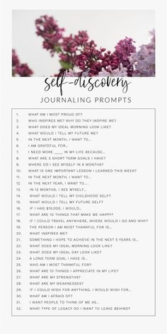 30 Day Journal Prompts For Self-Discovery To Ignite The Best Version Of Yourselfa 30 day daily self-discovery journal writing prompts for adults, for teens, for therapy. These journal prompts will help find happiness, self-love, and Journal Writing Prompts, Journal Art, How To Journal, Journal Prompts For Teens, Bullet Journal Prompts, Life Journal, Bullet Journal Questions, Journal Topics, Goal Journal