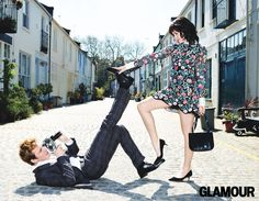 Sam Claflin and Jena Malone from the Hunger Games being all adorable together