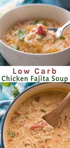This Keto Low Carb Chicken Fajita Soup is delicious full of flavor and extremely filling. This Keto Low Carb Chicken Fajita Soup is delicious full of flavor and extremely filling. Keto Foods, Healthy Low Carb Recipes, Low Carb Keto, Keto Recipes, Cooking Recipes, Keto Meal, Healthy Weight, Vegetarian Recipes, Healthy Food