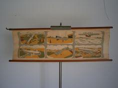Wandkaart van Luchtvaart I,