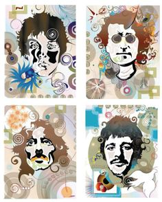 Beatles prints. 18x24 Gliclee'