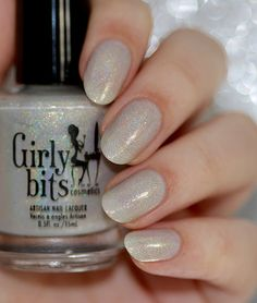 Girly Bits | Snafu Ivory nude holo, with teal sparks