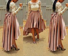 Silk high low skirt, silk pleated skirt, circle skirt, maxi skirt, gather skirt, african clothing, women's clothing