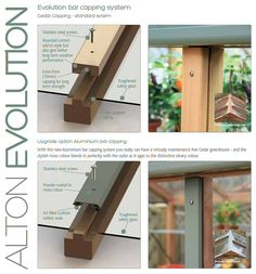 Alton Evolution Cedar Greenhouses, A New Concept Combining Traditional Materials With A Modern Twist. Wooden Greenhouses, Greenhouse Shed, Roof Detail, Glass Roof, Glass House, Skylight, Bungalow, Architecture, Garden