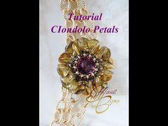 (106) Tutorial con perline rose petal: ciondolo Fiorilà. - YouTube