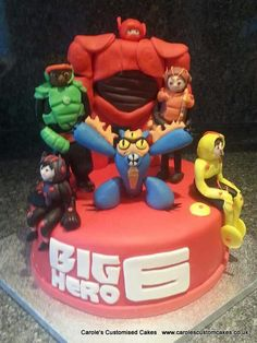Big hero 6 cake with all of the characters.