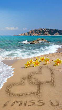 To my dear Joe,♡♡♡l miss you Joe, Love Doris. Beautiful Flowers Wallpapers, Beautiful Nature Wallpaper, Beautiful Gif, Beautiful Landscapes, I Love You Images, Love Pictures, Nature Pictures, I Miss You Wallpaper, Beach Wallpaper