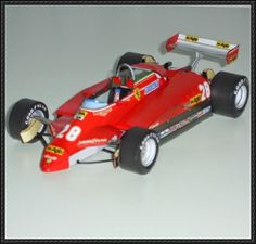 F1 Paper Model - Ferrari 126 C2 Paper Car Free Template Download - http://www.papercraftsquare.com/f1-paper-model-ferrari-126-c2-paper-car-free-template-download.html
