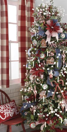 Peppermint Kitchen Christmas Tree. By RAZ Imports.