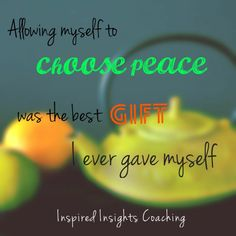 Give yourself the gift of peace