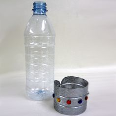 Recycled Bottle Cuff Bracelet | Craft Projects Blog by Sunshine Discount Crafts