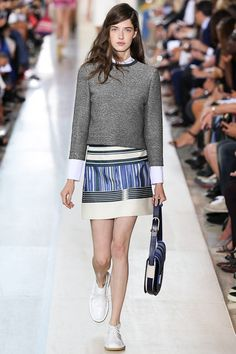 Tory Burch Spring 2015 RTW – Runway – Vogue.  Great transition outfit!