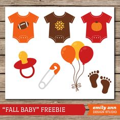 Emily Ann Design Studio: FREE Fall Baby Clip Art