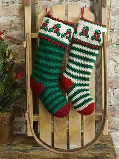 29 Free Crochet Christmas Stocking Patterns