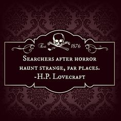 H.P. LOVECRAFT QUOTE by CreepyCulturesCabin on Etsy