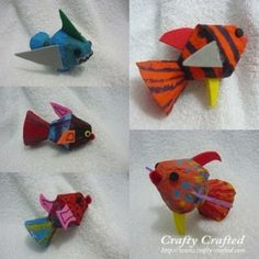 http://www.crafty-crafted.com/category/recycle-craft-materials/egg-carton-crafts-by-materials/