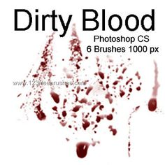 Dirty Blood - Download  Photoshop brush http://www.123freebrushes.com/dirty-blood/ , Published in #BloodSplatter, #GrungeSplatter. More Free Grunge & Splatter Brushes, http://www.123freebrushes.com/free-brushes/grunge-splatter/ | #123freebrushes