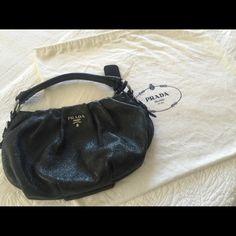 authentic PRADA  glam handbag 100% Authentic PRADA Deer skin leather Handbag. Rare piece. Very hard to find. Great condition. Dust Bag included Prada Bags