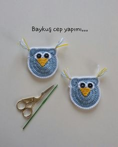 Crochet Knitting Owl Motif Making Baby Knitting Patterns, Hand Knitting, Crochet Motifs, Crochet Hats, Knitted Baby Clothes, Toy Craft, Head Wraps, Lana, Diy And Crafts