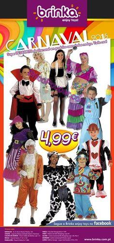 Promoções Carnaval Lojas Brinka - Trajes de Carnaval a 4,99€