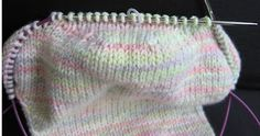 No Sock Holes For You - knitting trick to avoid hole when you knit the heel.