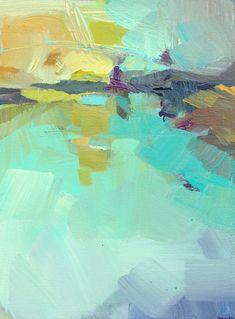 'A Far Off Place' 240.00 jill van sickle, artwork, abstract, color, landscape