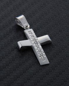 Σταυρός βάπτισης λευκόχρυσος Κ14 με Ζιργκόν