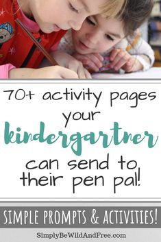 Amazing pen pal pack to use when homeschooling kindergarten! Simple writing pages, coloring fun, and other great options to send to a pen pal! Kindergarten Spelling Words, Kindergarten Anchor Charts, Homeschool Kindergarten, Homeschool Curriculum, Preschool, Homeschool Worksheets, Teaching Skills, Indoor Activities For Kids, Reading Challenge