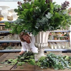 Making up urns for @thenationalweddingshow this weekend. Remembering back to the lovely @paularooneyfloraldesign demo at @chapeldesigners - thank you for inspiring me