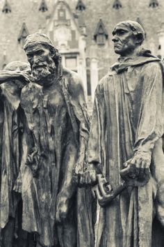 The Burghers of Calais by Rodin, Calais, Pas De Calais, France Photographic Print