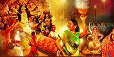 Durga Puja: Why are prostitutes considered sacred during Navratri? Durga Painting, Lord Shiva Painting, Woman Painting, Durga Puja Kolkata, Shubh Diwali, Watercolor Paintings For Beginners, Butterfly Wall Art, Indian Art Paintings, Durga Goddess