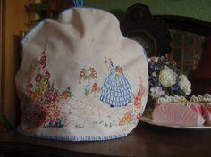 Sumptuous Vintage 1930's H Emb Crinoline Lady Cottage Garden Tea Cozy | eBay