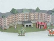 Hampton Castle of Sterling Diorama Free Papercraft Download