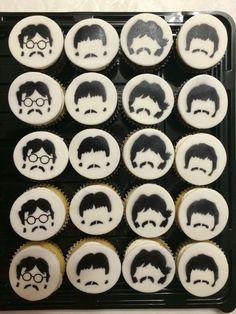 Beatles cupcakes.