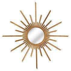 Oversize Sunburst Mirror, Gold $785.00