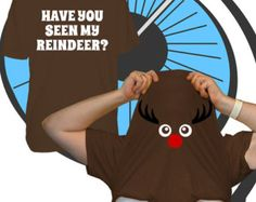 Childrens Have You Seen My Reindeer Face Pull Up Christmas T Shirt Costume- Xmas Party Tshirt - Printed T-shirt - Boys Girls Outfit Top