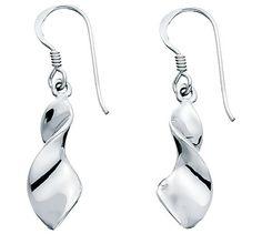 Wide Twist Sterling Silver Earrings at Wild Ivy