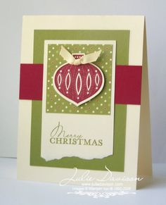 Julie's Stamping Spot -- Stampin' Up! Project Ideas Posted Daily: Contempo Christmas Card
