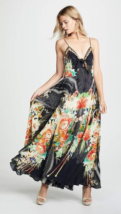 2e6db870279 Camilla Long Dress with Tie Front Camilla Long