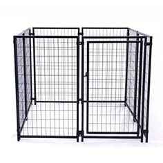 Aleko 5'x5'x4' Dog Kennel Pet Playpen Chain Link Exercise Pen
