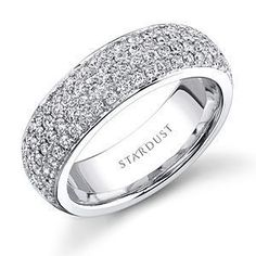 This Spectacular Diamond Wedding Band By Stardust Features A Total Weight Of 1 04 Carats