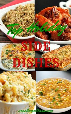 The Holiday's are fast approaching and I am listing my Top Holiday Side Dishes of the season! Yes, only the tastiest side dishes made the cut!