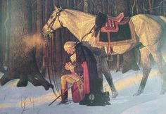 George Washington ~ one of my favorite paintings - we have a LARGE copy of it in our family room