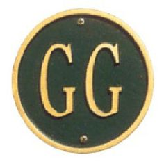 Pet Plaque Green with Gold Lettering - 5015GG