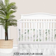 Forever in love with pastels, eucalyptus, and florals. This muted and timeless baby girl nursery is stunning. We adore the pastel color palate mixed with a bit of greenery and rose. Girl Crib Bedding Sets, Custom Baby Bedding, Girl Cribs, Baby Nursery Bedding, Baby Cribs, Girl Nursery, Disney Nursery, Nursery Decor, Nursery Curtains